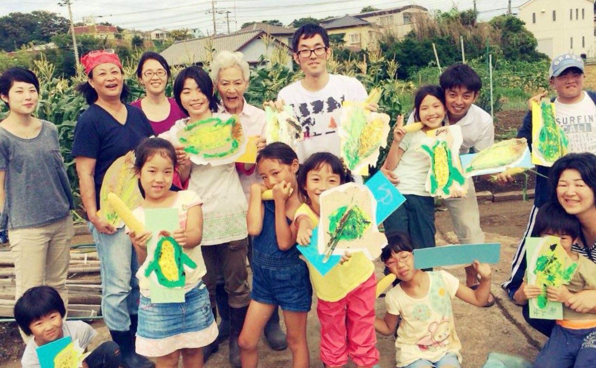 生トウモロコシと青空アート、最高でした!